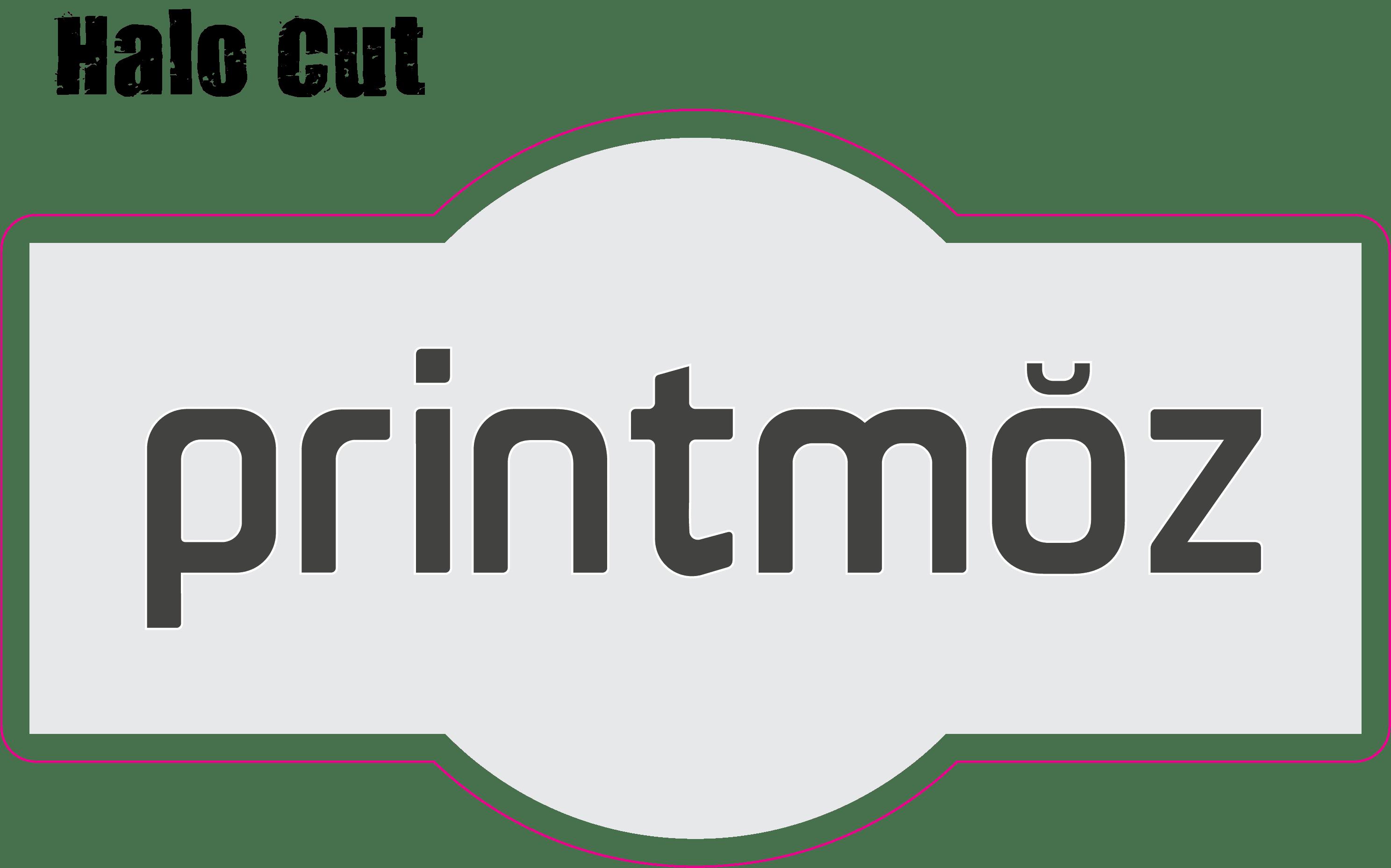 printmoz logo halo cut design