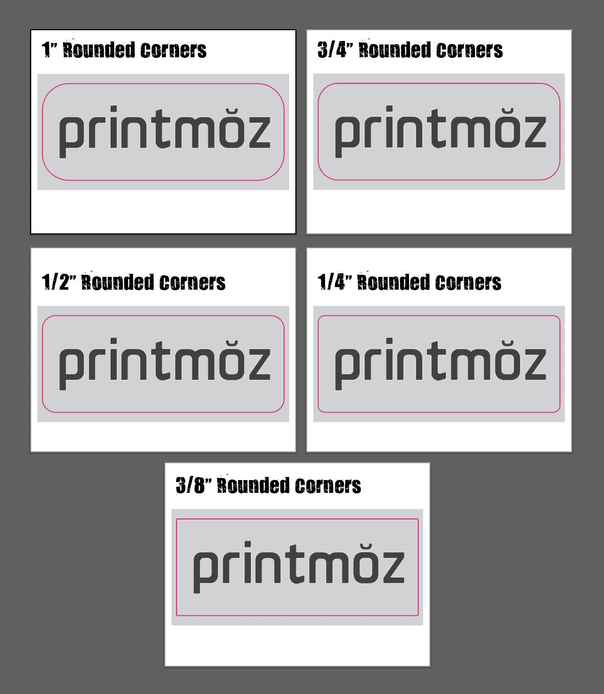printmoz rounded corner options