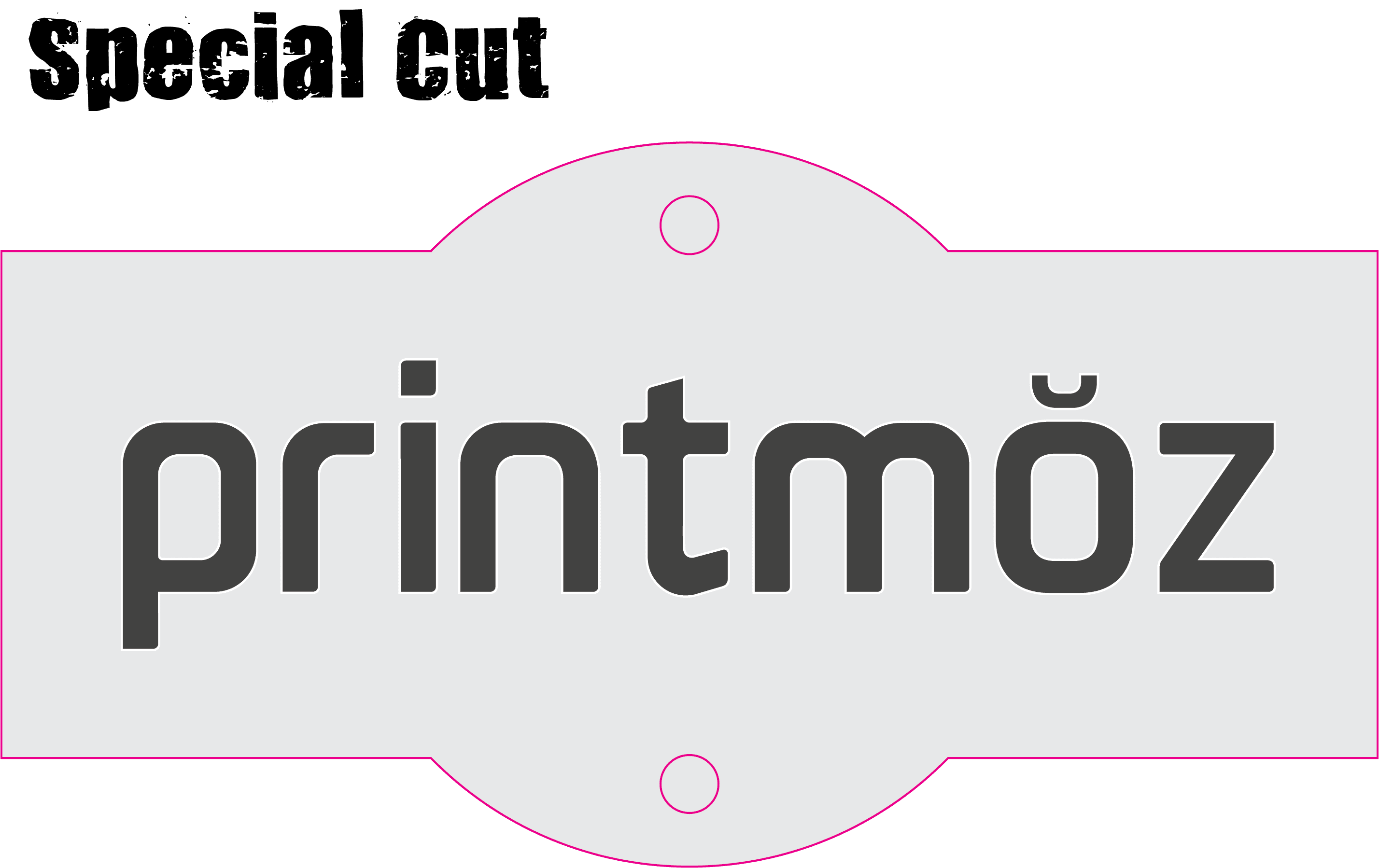 printmoz logo special cut design
