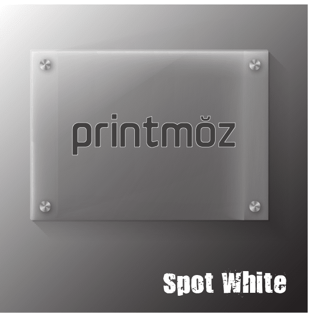 acrylic sign flood white finish