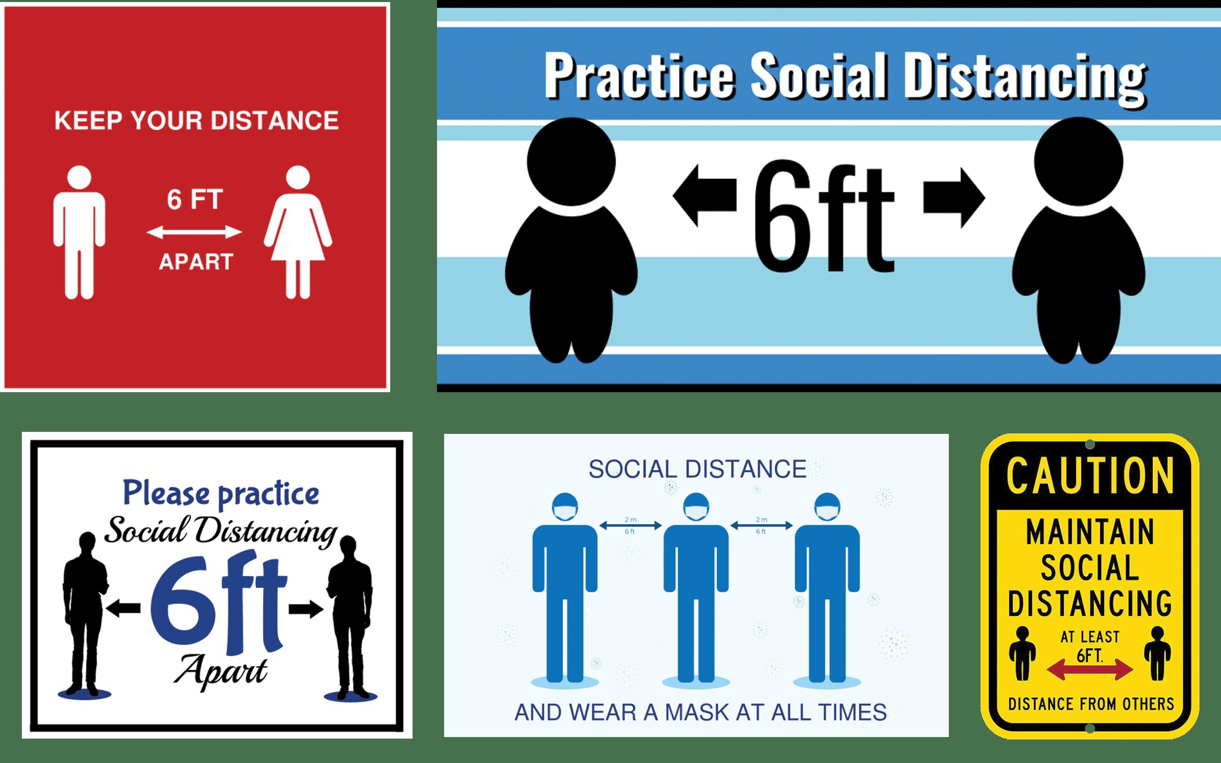 social distancing floor sticker templates