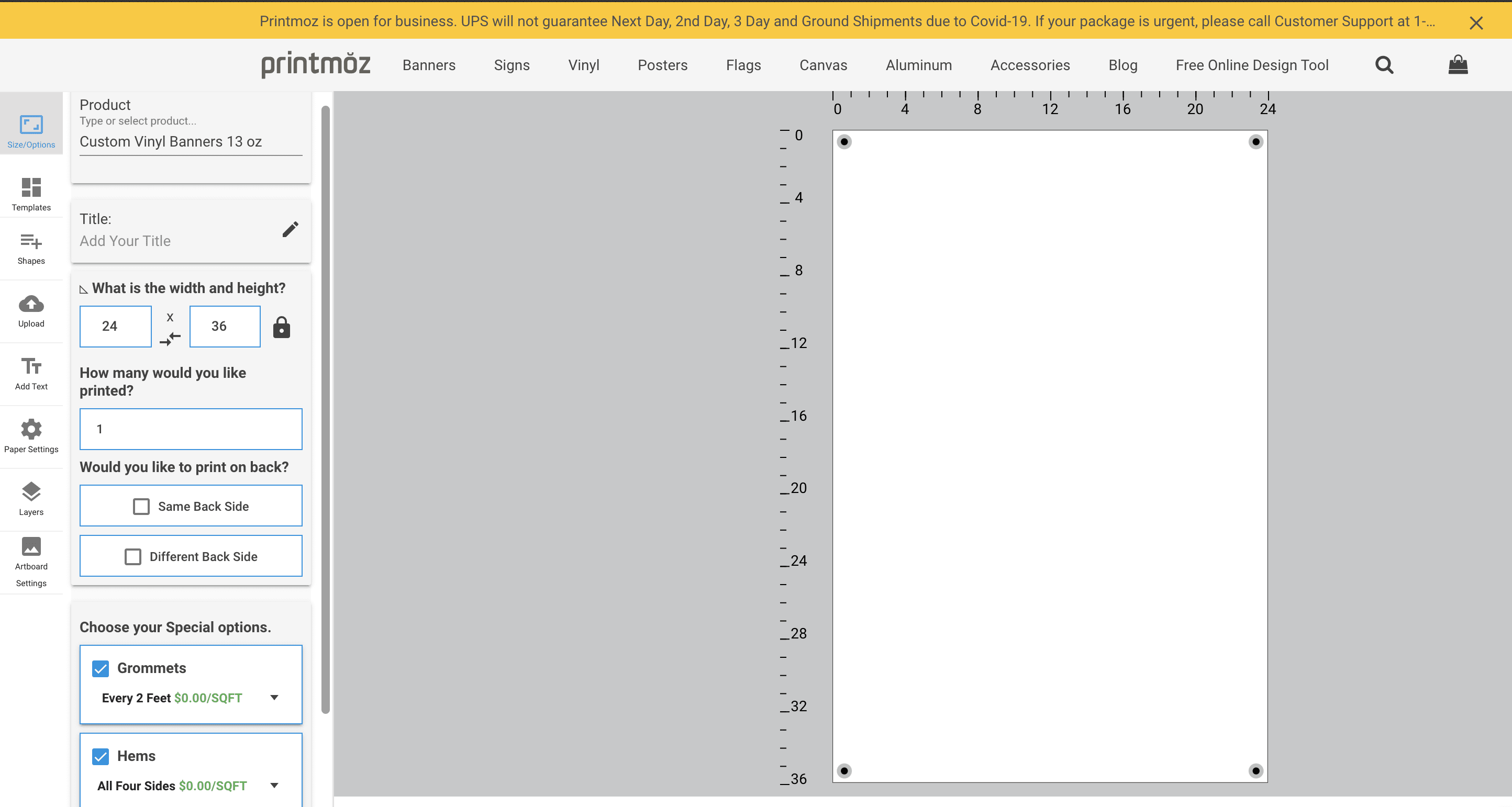 online design tool options