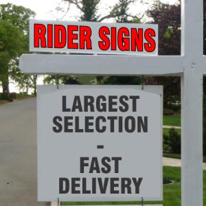 "Custom 24x6"" Rider Signs"