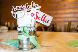 wedding hashtag sign for photo booth