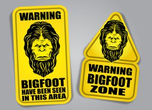 bigfoot die cut stickers