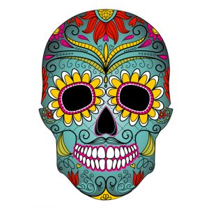 day of the dead die cut sticker