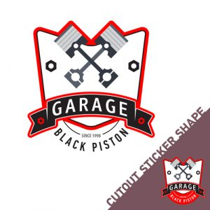 garage car sticker advertising decal