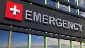 emergency sign metal lettering