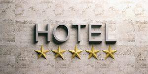 hotel metal lettering sign