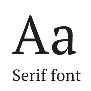 serif font for outdoor business signs