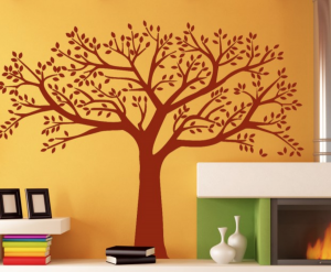 die cut decal wall art