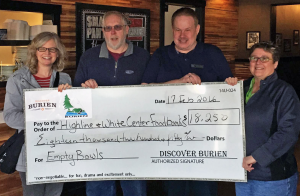 family show off huge check