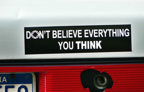 die cut magnets don't believe everything you think