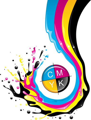 cmyk color splash design