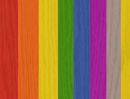 bleed in printing rainbow color scheme