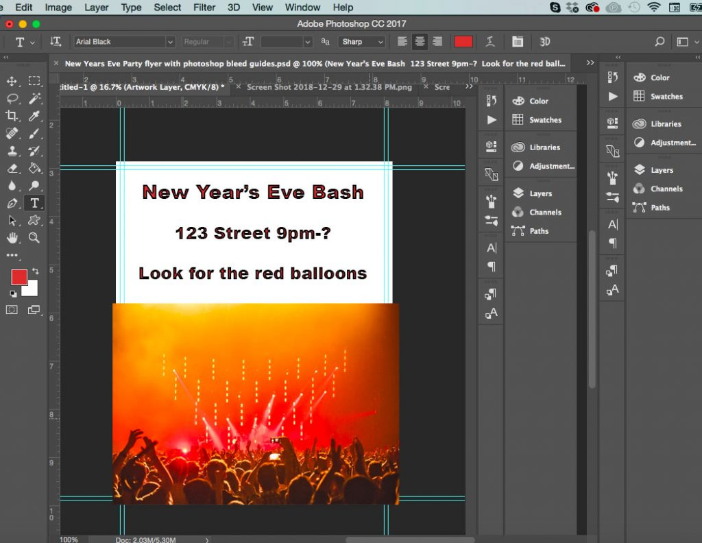 photoshop crop marks screenshot