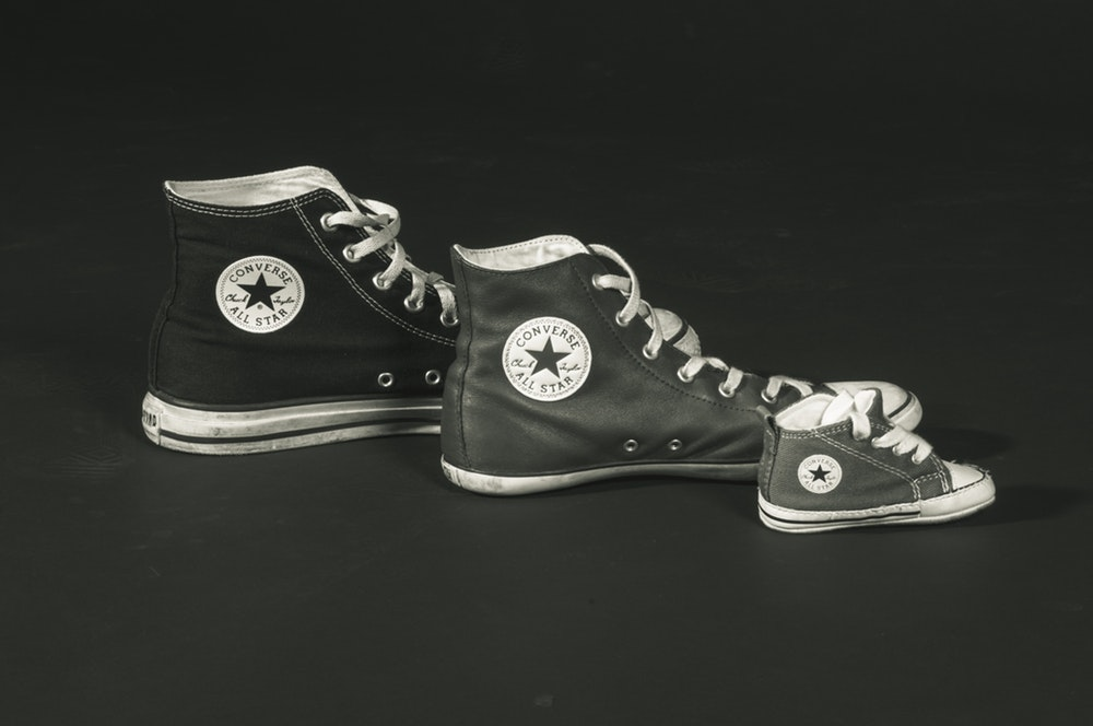 small medium large converse different sizes