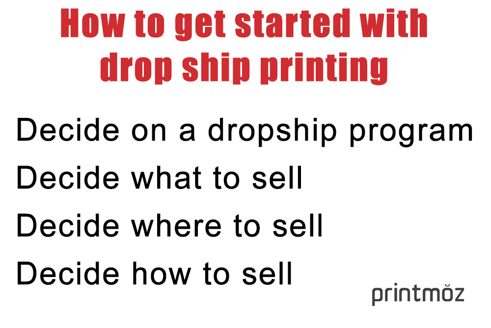 How to get started with drop ship printing