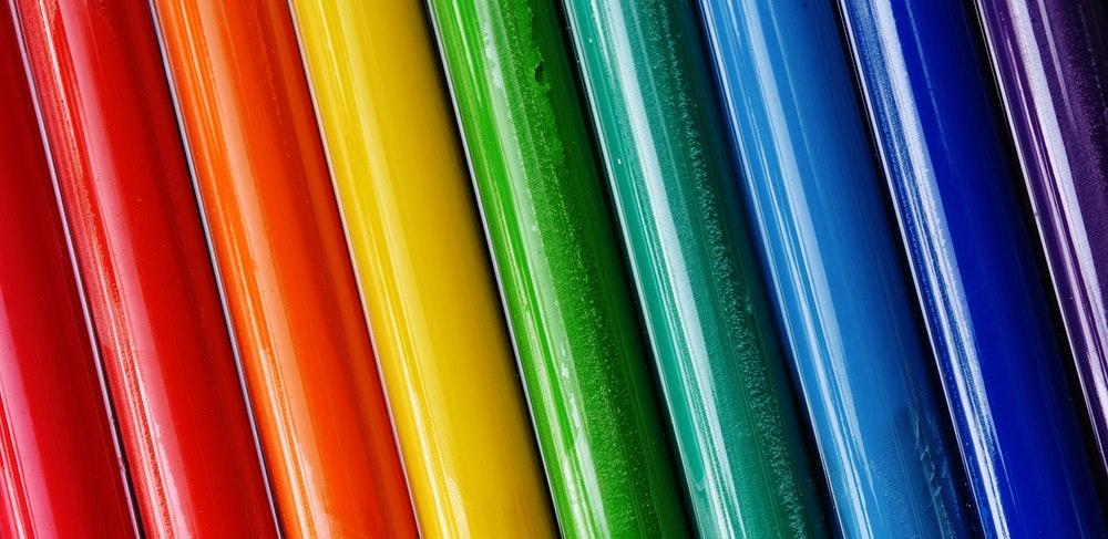 rainbow of vinyl colors