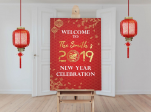 Foam Board Happy New Year Banner Images