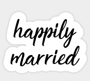 happily married decal