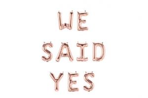 we said yes wedding banner