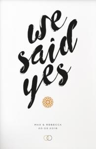 we said yes wedding invitation