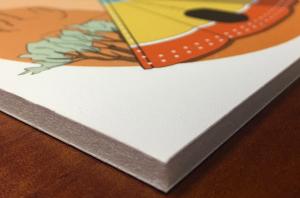 "1/2"" white foamboard print"