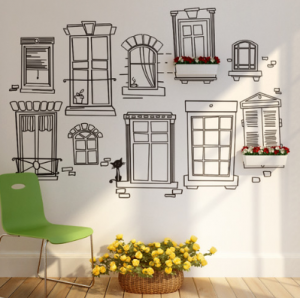 home decoration various windows decals
