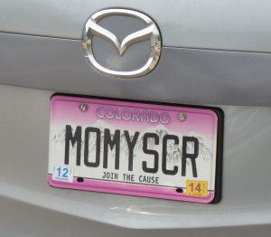 custom plate Momyscr