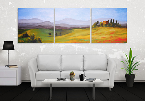 Split Canvas Prints nature scene three panels