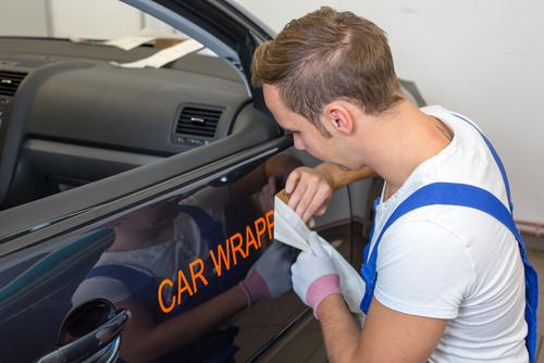 applying car stickers