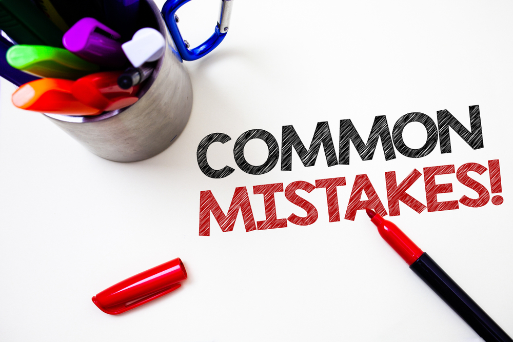 common mistakes graphic with markers