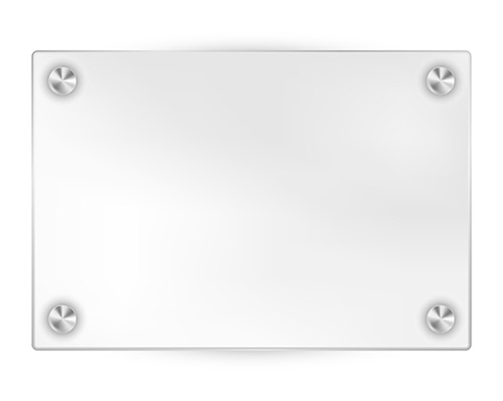 clear white acrylic sign