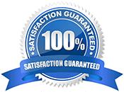 100% Satisfaction Guaranteed Styrene Signs