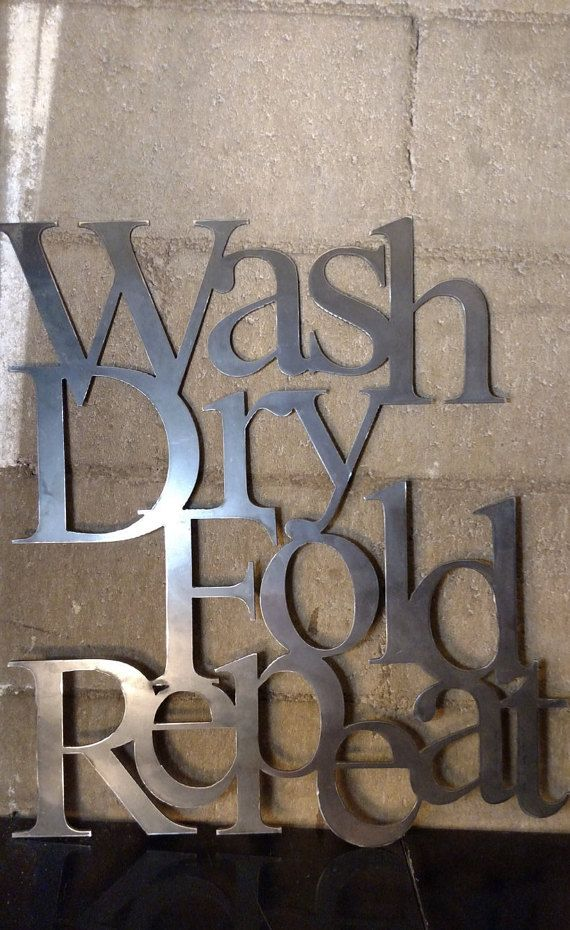 wash dry fold repeat sign