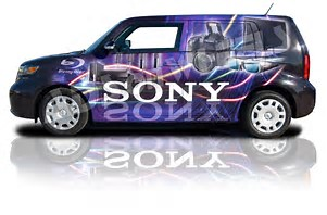 Car wrapped for advertising