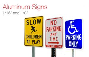 Aluminum outdoor signage
