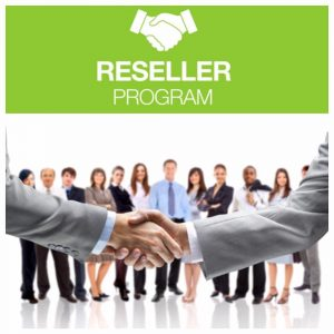 Shaking hands as partners joining resale program