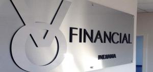 financial indiana metal sign