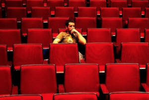 one man in audience