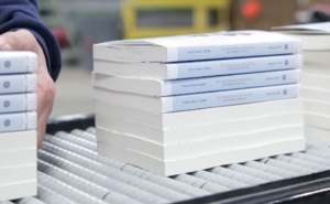 books on conveyer belt