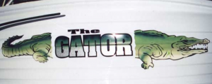 Alligator boat name decal