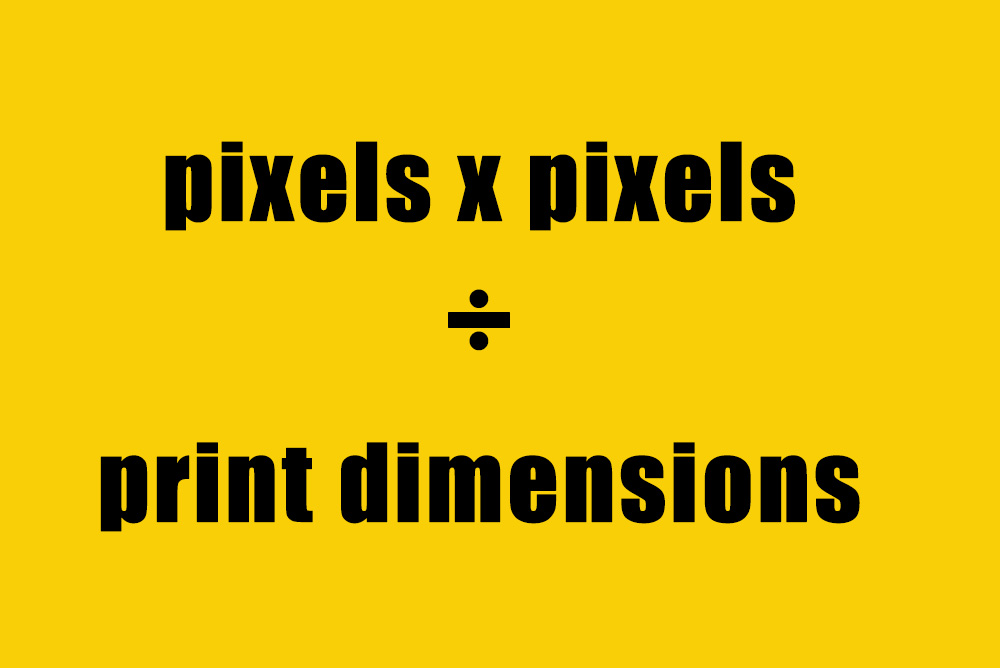 convert dpi to ppi yellow and black graphic equation
